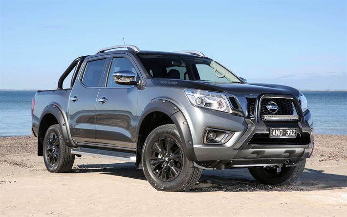 Descargar fondos de pantalla Nissan Navara N-Sport Black Edition, 4k de 2017, coches, Suv, todo terreno, camionetas, Nissan