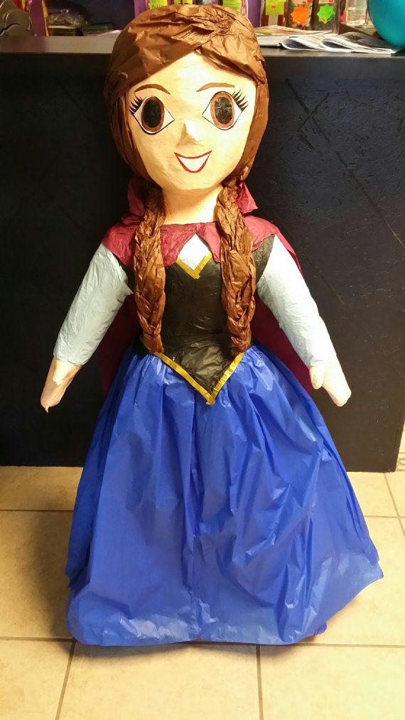 Disney Frozen Anna or Elsa Pinata by TheFabPartyShop on Etsy