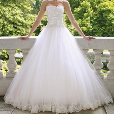 Blanc princesse romantique dentelle robe de mariee 2015 new sexy plus size robes de novia vintage