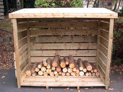 wooden log store plans