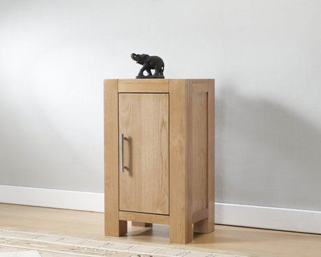 Milano Oak Small Cabinet with 1 Door