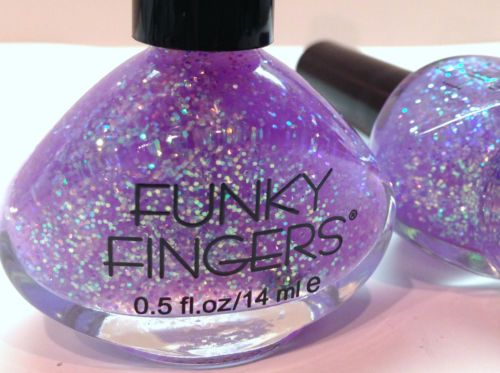 FUNKY-FINGERS-Nail-Polish-6002-UP-ALL-NIGHT-HOLOGRAPHIC-GLITTERS-RETIRED