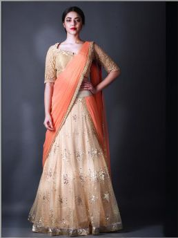 Sophisticated & Bright Colors choice for newly Bride at her #wedding...#lehenga..#Indian #bridal wear