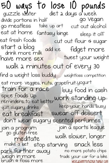 Good ideas to lose 10 lbs.