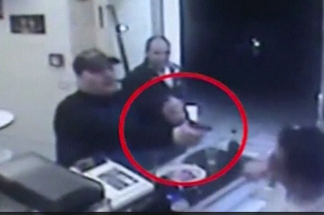 Brave pizza takeaway staff attacked on the armed robber
