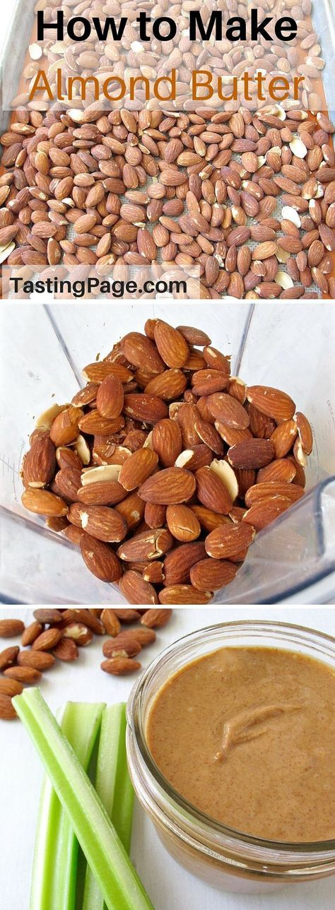How to Make Almond Butter - it's an easy recipe and healthier than store bought | TastingPage.com