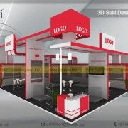 10 Meter x 8 Meter Exhibition Booth Design-EC-1082S-2