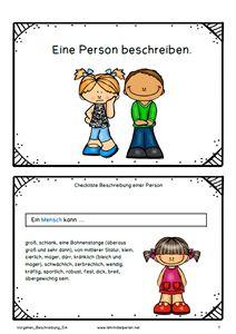 schreiben texte aufs tze personenbeschreibung deutsch unterricht grundschule und. Black Bedroom Furniture Sets. Home Design Ideas