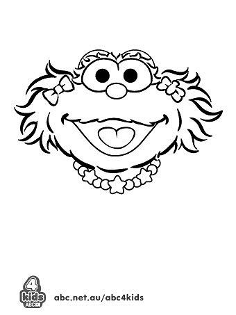 Sesame Street on zoe sesame street coloring pages