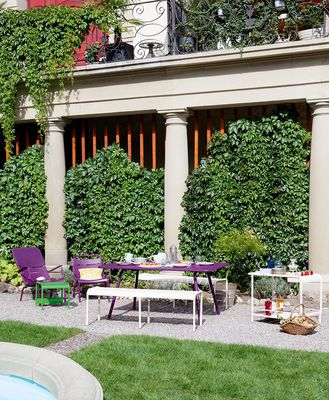 In the garden with the beatiful luxembourg outdoor collection by Fermob