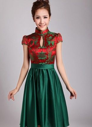 Japanese inspired wedding dress short chinese style prom for Chinese style wedding dress