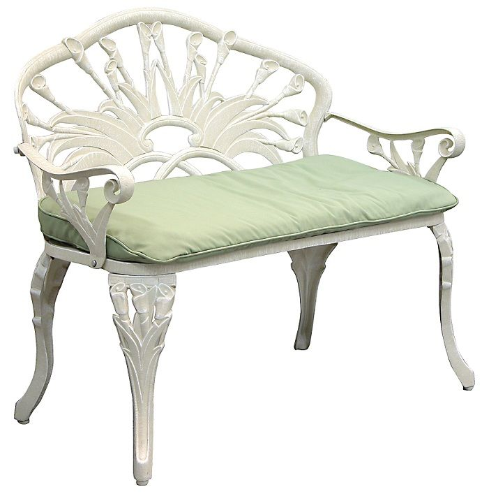 Calla Lily Loveseat Outdoor Garden Bench