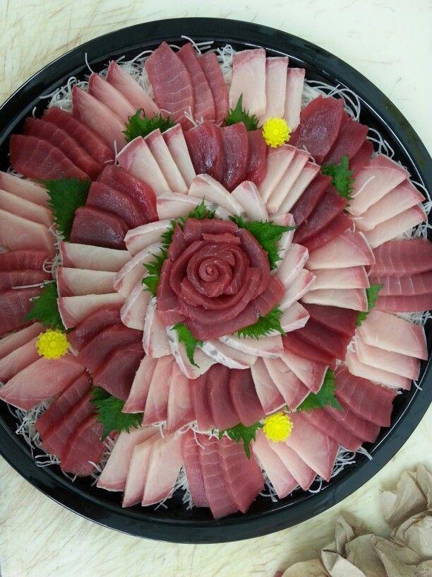 Ahi and Hamachi sashimi