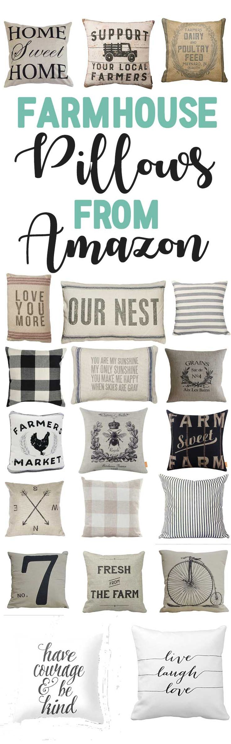 Farmhouse Pillows From Amazon-Affordable Farmhouse style decor-www.themountainviewcottage.net.jpg