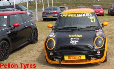 pirelli tyre fitted to racing mini#pirellityreshalifaxuk