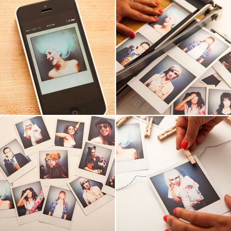 Fun! Turn your pictures into a Polaroid garland.