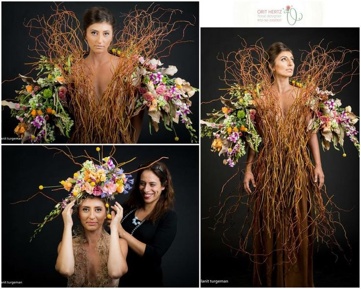 """Days of bloom"" by Orit Hertz - floral designer Photography: Ilanit Turgeman  Hair & makeup: Lilach Zargary Model: Ira Kaufman"