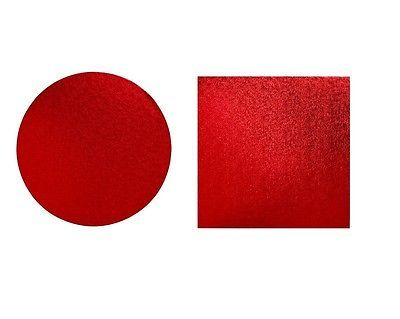 """Cake drum square or #round 12mm cake board red 8"""" - 16"""" #birthday cake #support,  View more on the LINK: http://www.zeppy.io/product/gb/2/252251832502/"""