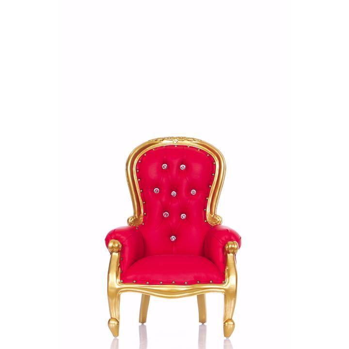 Cinderella 31 Mini Princess Throne Chair Red Gold In 2020 Throne Chair Chair Throne