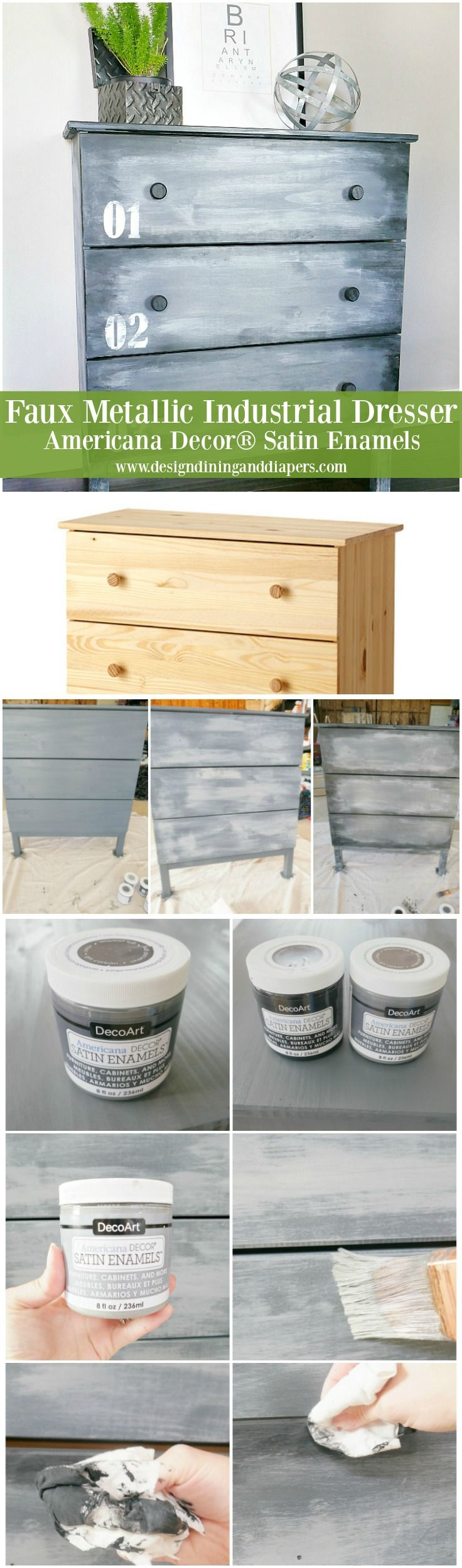IKEA HACK: DIY Faux Metal Dresser
