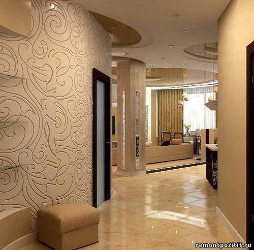 Дизайн обои коридора