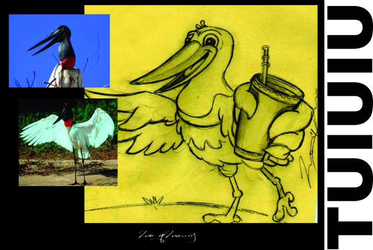 sketch Mascote Tuiuiu