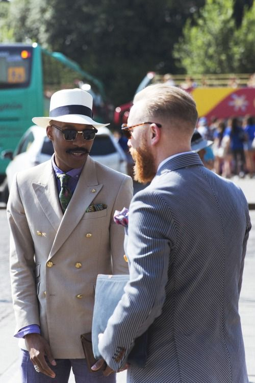 Shaun Gordon & Dean Gomilsek-Cole // At #pitti  wearing SS15 Turnbull & Asser.