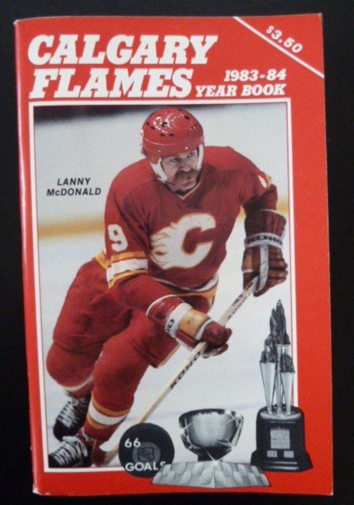 NHL Calgary Flames 1983 Year Book Media Guide Lanny McDonald Mike Vernon Stats #CalgaryFlames