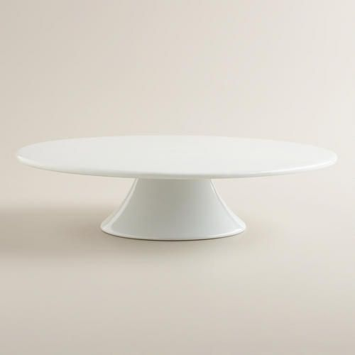 Need a plain white porcelain cake stand. Has to be minimal and modern. If anyone sees something better than this online, please ping me. Thanks!