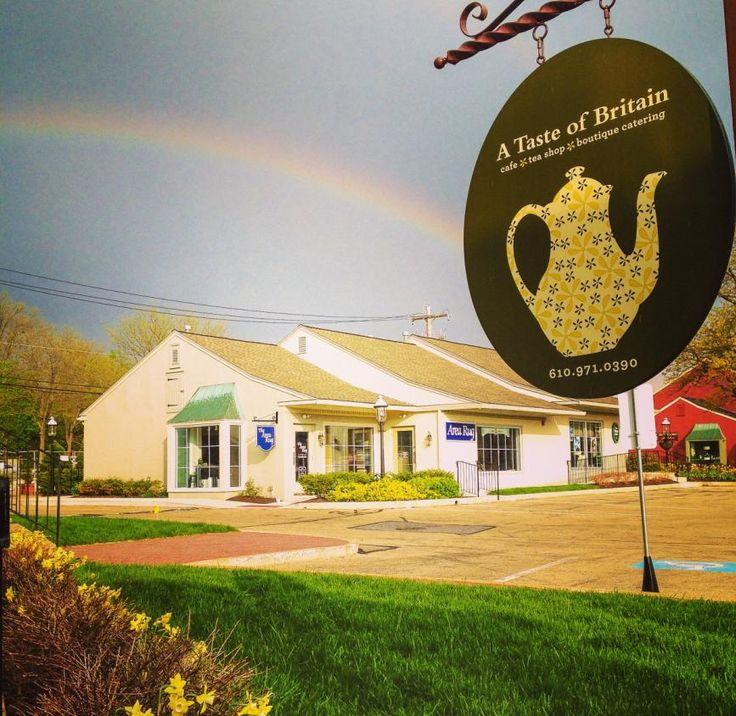 Beautiful rainbow outside the shop!
