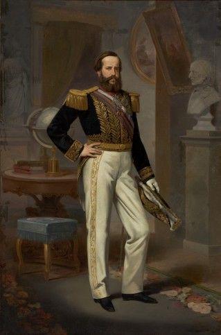 """Victor Meirelles de Lima - """"Dom Pedro II""""  Data da obra: 1864 Técnica: Óleo sobre tela Dimensões: 252 x 165 cm Doada por: Brasital S.A."""