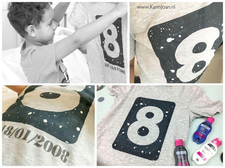 Karin Joan: T-shirt decoreren met sjabloon en textielverf