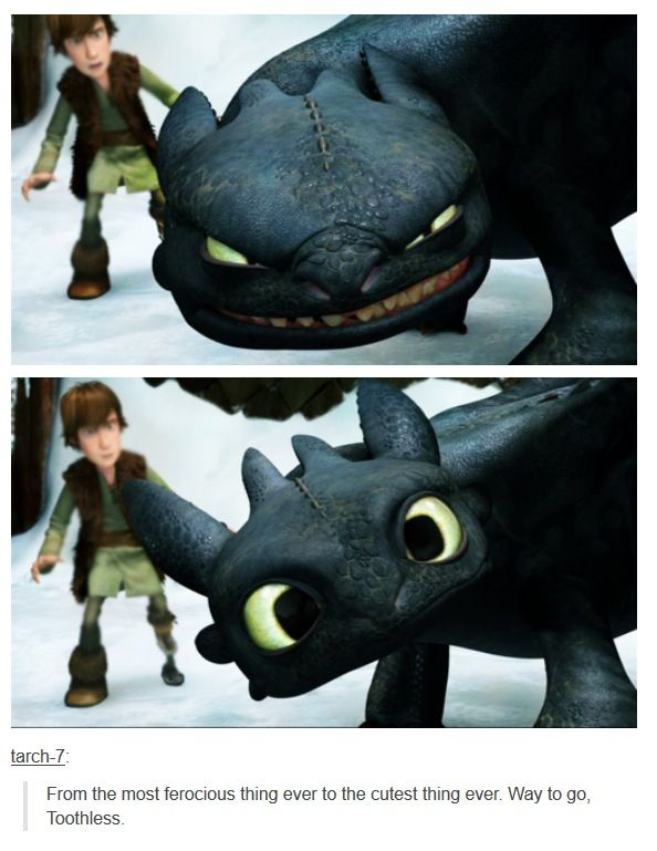 I FEEL LIKE TOOTHLESS RIGHT NOW XD But I'm never adorable, IM FIERCE. RAWR.