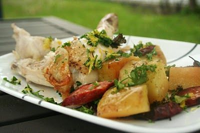 Spanish Roasted Chicken.  Made this for dinner tonight..DELISH!  (especially the potatoes)