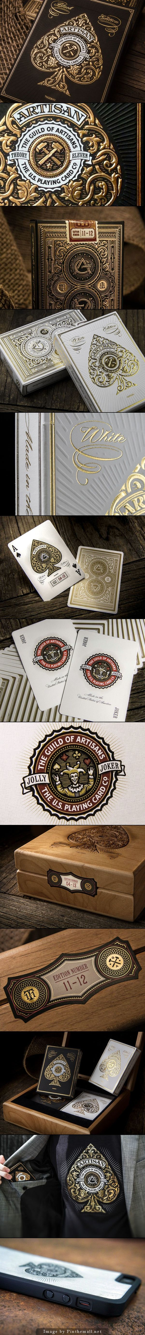 Artisan Playing Cards. Made by artisans, for artisans. #packaging #design (View more at www.aldenchong.com)