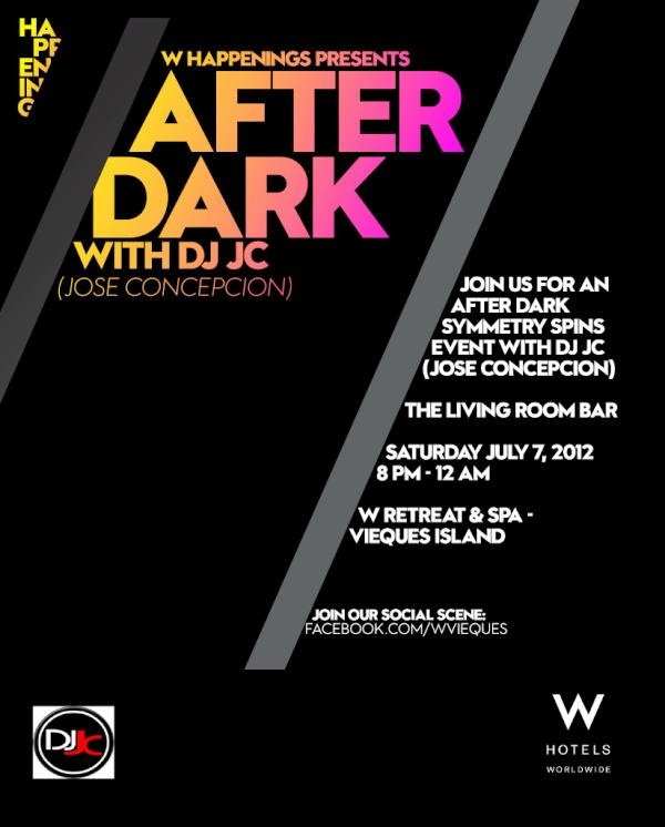 Join Us For An AFTER DARK Event With DJ JC Spinning In The Living Room At