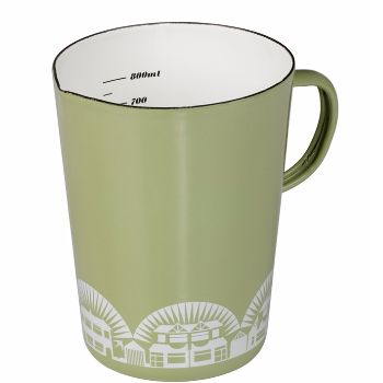 Inspired by mid-century Scandinavian cookware, the Mini Moderns enamelware range follows in the tradition of combining great colour and pattern, with quality and practicality.