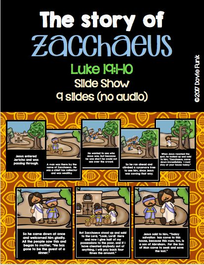 Bible Story - Zacchaeus Slide Show - Sunday School Lesson