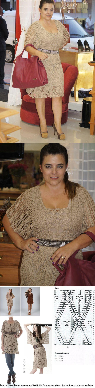 Vestido de crochê, marca Caos, coleção 2012