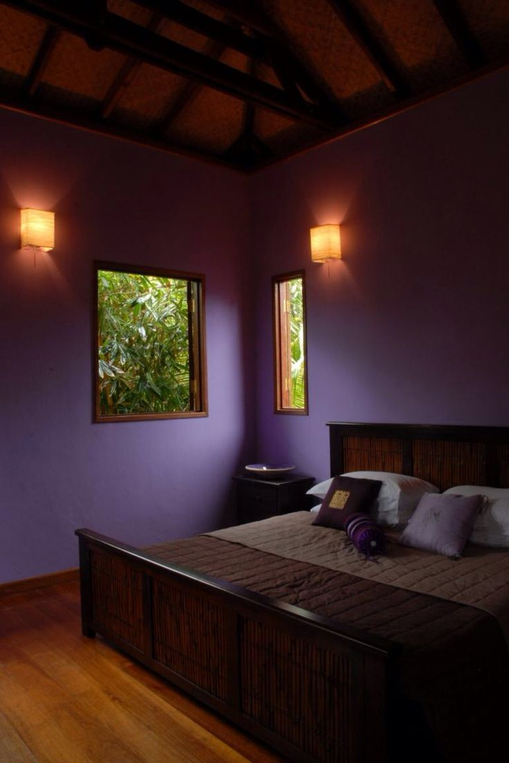 Black and purple bedroom - Purple Black Tan Bedroom