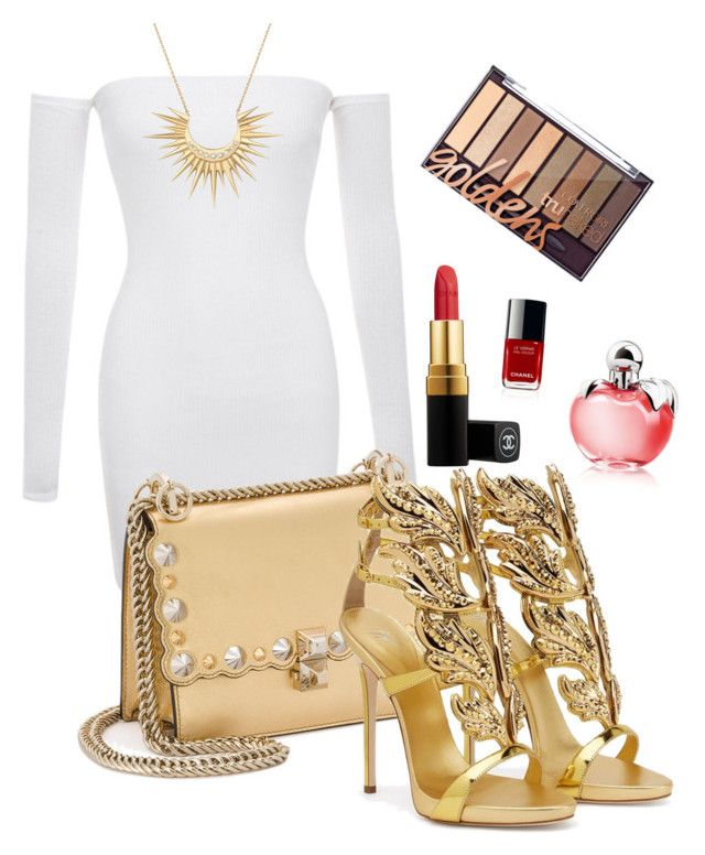 """""""Goldie"""" by tothmerci on Polyvore featuring Fendi, Giuseppe Zanotti, Celine Daoust, Chanel and Nina Ricci"""