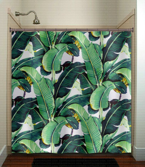 This unique bathroom shower curtain is imprinted with my own art designs, and its colors can be customized and changes can be added to it.  Simply con