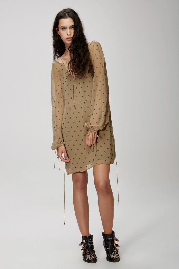 The Fifth Label - Midnight Memories Long Sleeve Dress - Khaki