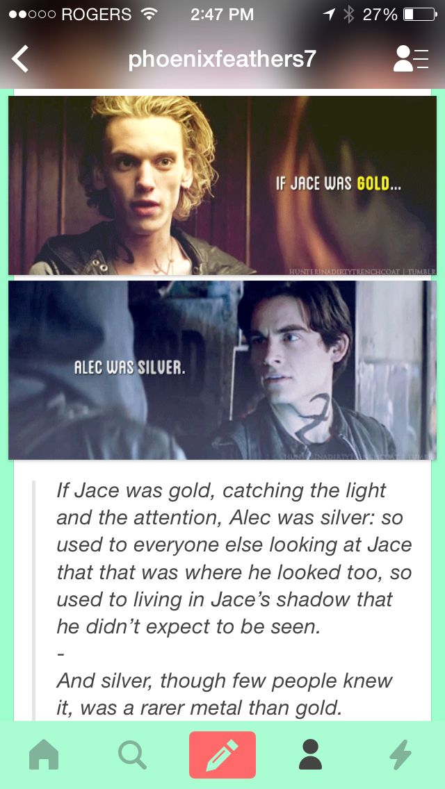 I found this on tumblr and yas just wow I love this post. I love alec<3<3  All credit goes to you, you genius.  =^_^=