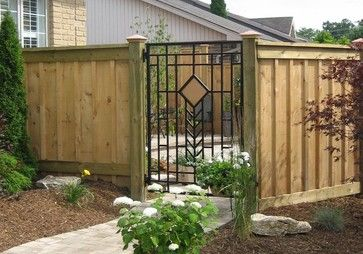 17 Best Images About Cool Wrought Iron Wood Gates And