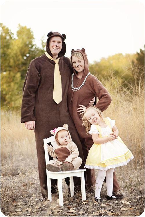 Goldilocks and the Three Bears.  #Halloween
