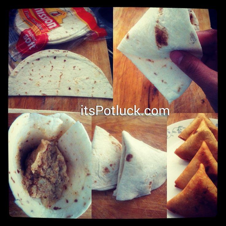 Easy Samosa using Tortilla