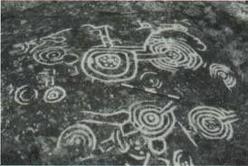 Espiral arte rupestre Isla de Pascua Chile