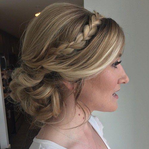 headband braid with curls - photo #33