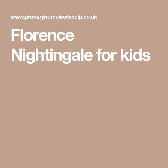 Florence Nightingale for kids